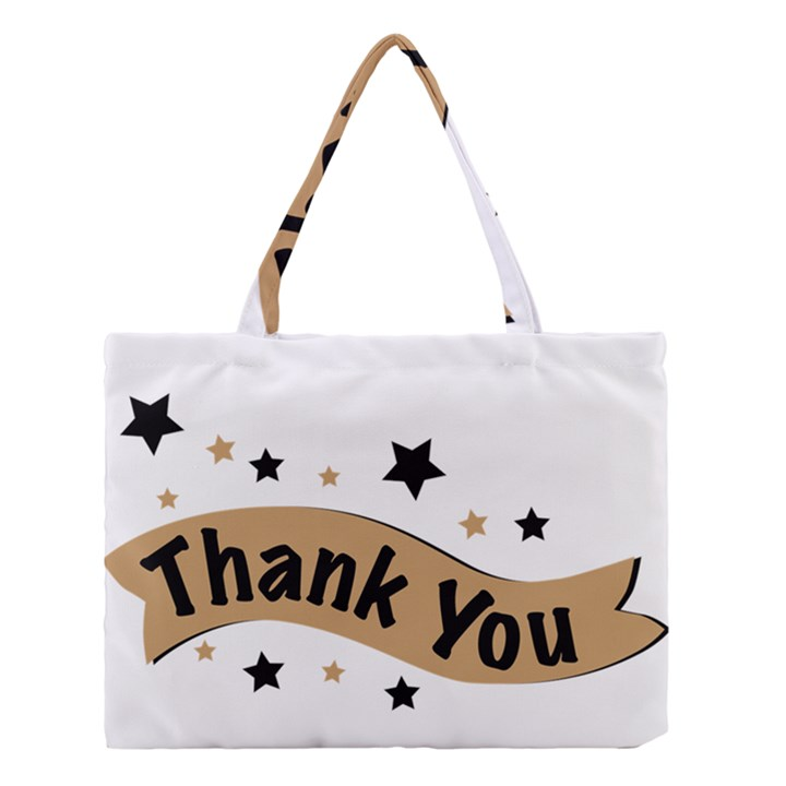 Thank You Lettering Thank You Ornament Banner Medium Tote Bag