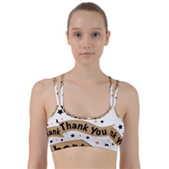Thank You Lettering Thank You Ornament Banner Line Them Up Sports Bra