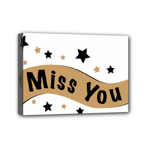 Lettering Miss You Banner Mini Canvas 7  X 5