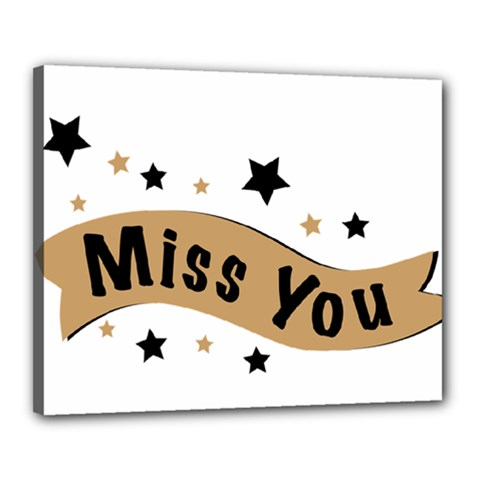 Lettering Miss You Banner Canvas 20  X 16