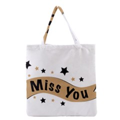 Lettering Miss You Banner Grocery Tote Bag