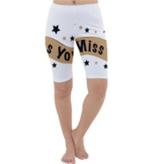 Lettering Miss You Banner Cropped Leggings