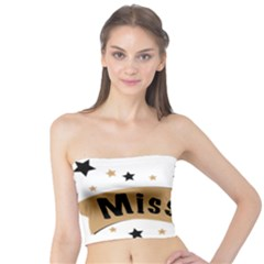 Lettering Miss You Banner Tube Top