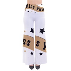 Lettering Miss You Banner Pants
