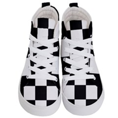 Grid Domino Bank And Black Kid s Hi Top Skate Sneakers