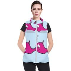 Fish Swarm Meeresbewohner Creature Women s Puffer Vest