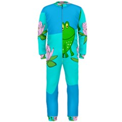 Frog Flower Lilypad Lily Pad Water Onepiece Jumpsuit (men)