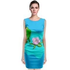 Frog Flower Lilypad Lily Pad Water Classic Sleeveless Midi Dress