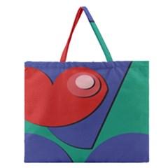 Clipart Portrait Illustration Zipper Large Tote Bag
