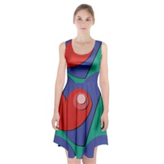 Clipart Portrait Illustration Racerback Midi Dress