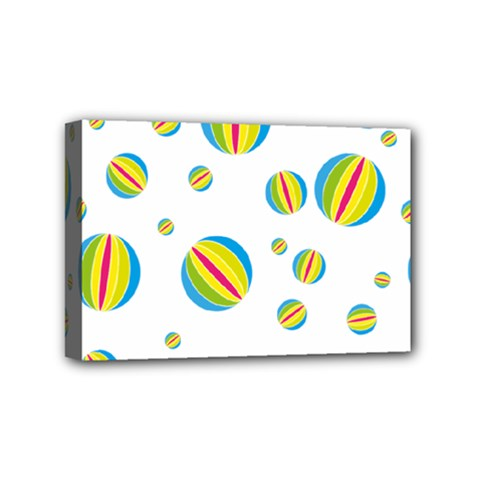 Balloon Ball District Colorful Mini Canvas 6  X 4