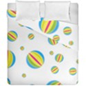 Balloon Ball District Colorful Duvet Cover Double Side (California King Size) View1