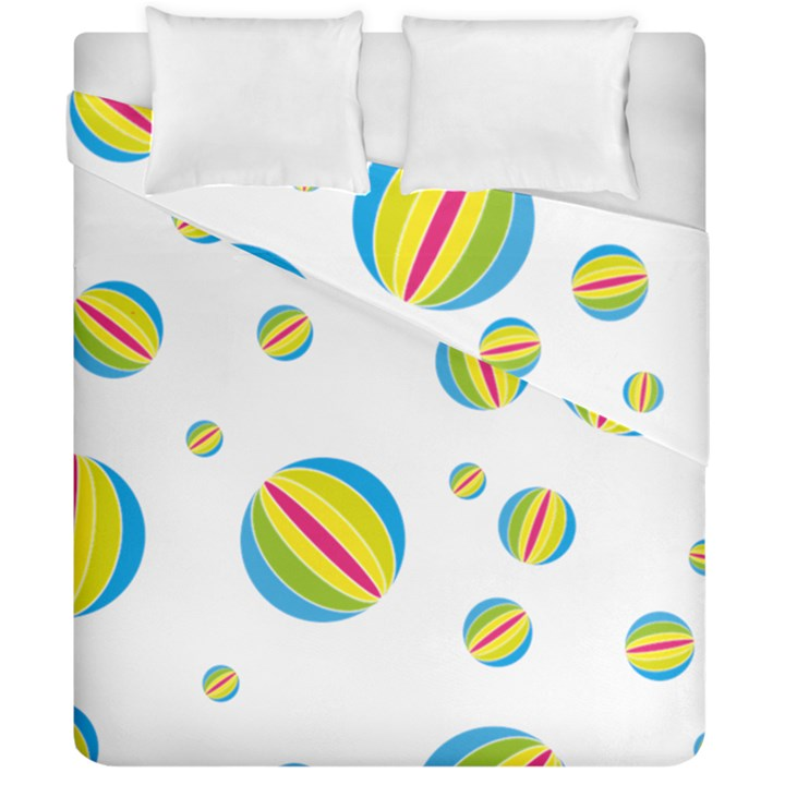 Balloon Ball District Colorful Duvet Cover Double Side (California King Size)