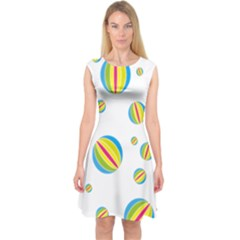 Balloon Ball District Colorful Capsleeve Midi Dress