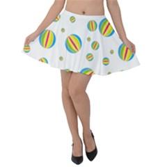 Balloon Ball District Colorful Velvet Skater Skirt