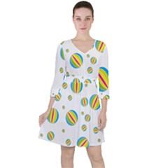Balloon Ball District Colorful Ruffle Dress