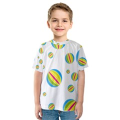 Balloon Ball District Colorful Kids  Sport Mesh Tee