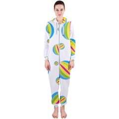 Balloon Ball District Colorful Hooded Jumpsuit (ladies)