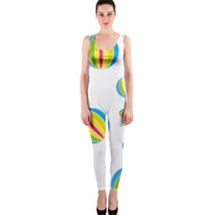 Balloon Ball District Colorful Onepiece Catsuit