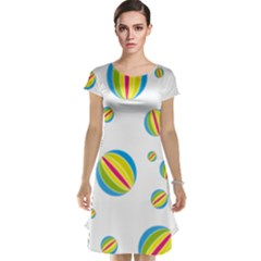 Balloon Ball District Colorful Cap Sleeve Nightdress
