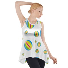 Balloon Ball District Colorful Side Drop Tank Tunic