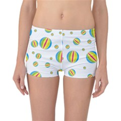 Balloon Ball District Colorful Reversible Boyleg Bikini Bottoms