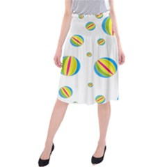 Balloon Ball District Colorful Midi Beach Skirt