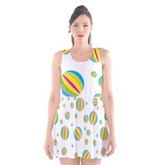 Balloon Ball District Colorful Scoop Neck Skater Dress