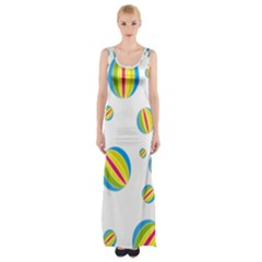 Balloon Ball District Colorful Maxi Thigh Split Dress