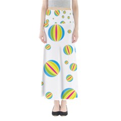 Balloon Ball District Colorful Full Length Maxi Skirt