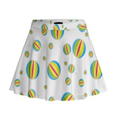 Balloon Ball District Colorful Mini Flare Skirt