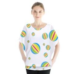 Balloon Ball District Colorful Blouse