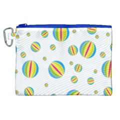 Balloon Ball District Colorful Canvas Cosmetic Bag (xl)