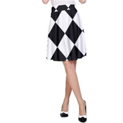 Grid Domino Bank And Black A Line Skirt