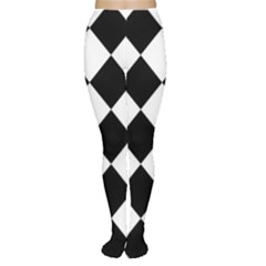 Grid Domino Bank And Black Women s Tights