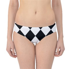 Grid Domino Bank And Black Hipster Bikini Bottoms
