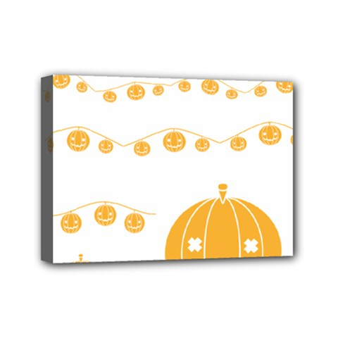 Pumpkin Halloween Deco Garland Mini Canvas 7  X 5