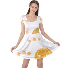Pumpkin Halloween Deco Garland Cap Sleeve Dress