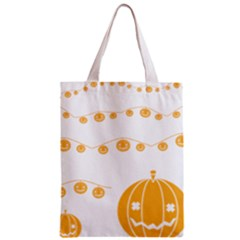 Pumpkin Halloween Deco Garland Zipper Classic Tote Bag