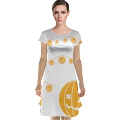 Pumpkin Halloween Deco Garland Cap Sleeve Nightdress