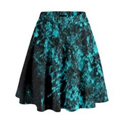 Blue Splash High Waist Skirt