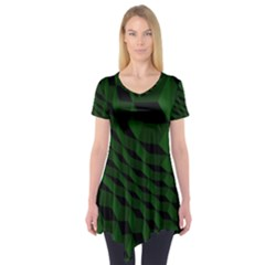 Pattern Dark Texture Background Short Sleeve Tunic