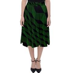 Pattern Dark Texture Background Folding Skater Skirt