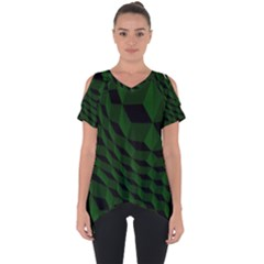 Pattern Dark Texture Background Cut Out Side Drop Tee