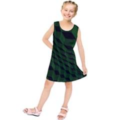 Pattern Dark Texture Background Kids  Tunic Dress