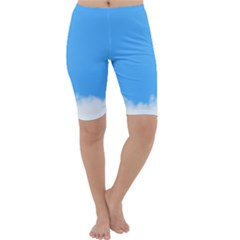 Sky Blue Blue Sky Clouds Day Cropped Leggings