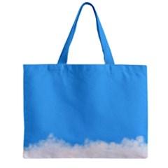 Sky Blue Blue Sky Clouds Day Zipper Mini Tote Bag