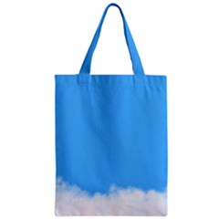 Sky Blue Blue Sky Clouds Day Zipper Classic Tote Bag