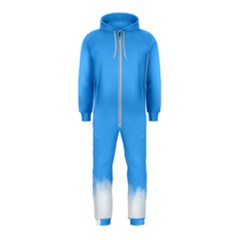 Sky Blue Blue Sky Clouds Day Hooded Jumpsuit (kids)