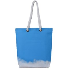 Sky Blue Blue Sky Clouds Day Full Print Rope Handle Tote (small)